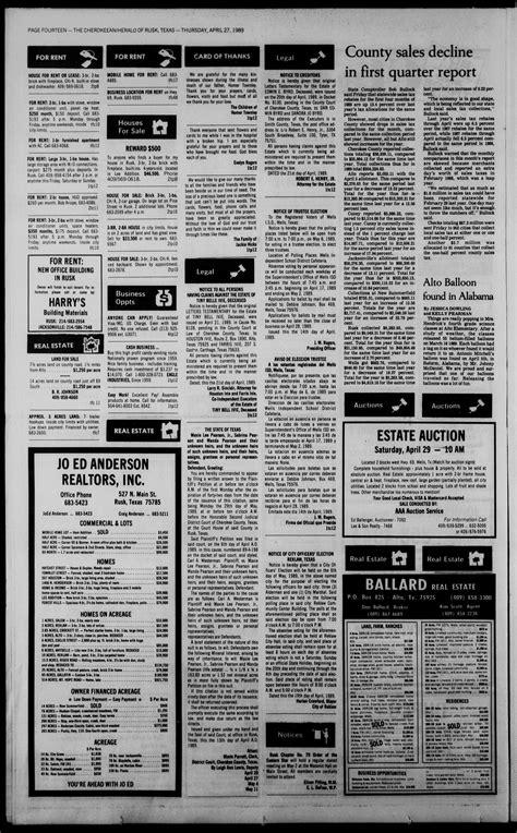 Cherokeean/Herald (Rusk, Tex.), Vol. 141, No. 12, Ed. 1
