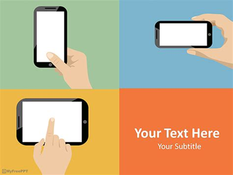 Free Mobile Powerpoint Templates Myfreeppt Com App Powerpoint Template