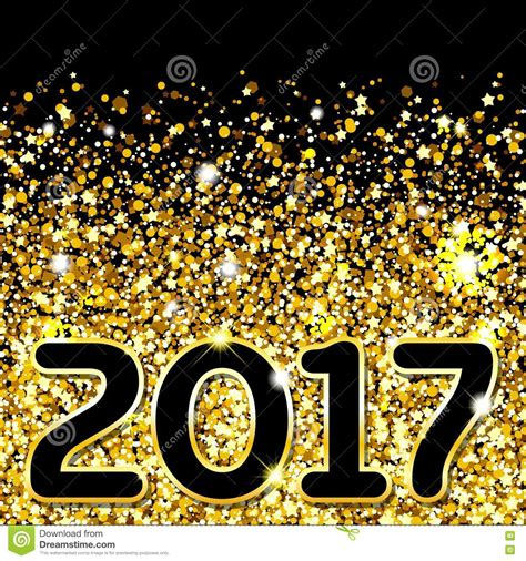 new year set design abstract gold background golden sparkling sequins set