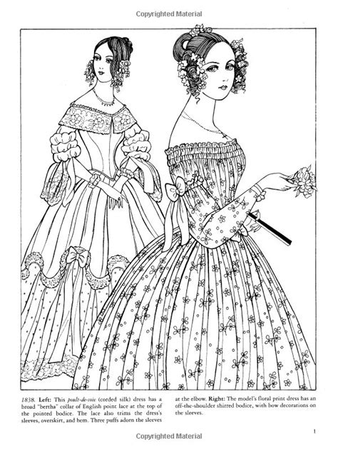 coloring book for fashion dover publications on godey s fashions coloring