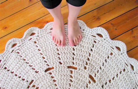 Crochet Tshirt Rug Pattern by T Shirt Yarn Crochet Pdf Pattern Doily Rug 90cm 3ft