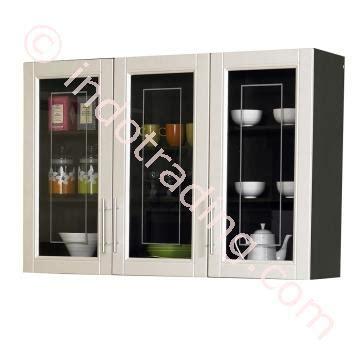Lemari Kaca Buat Jualan jual lemari dapur 3 pintu atas kaca series mutiara