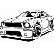 How To Aw Car Mustang Coloring Pages
