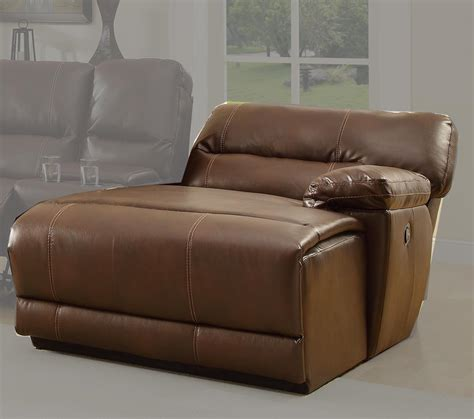 Leather Sofa With Chaise And Recliner Homelegance Blythe Rsf Back Recliner Chaise Brown Bonded Leather 9606 Rc