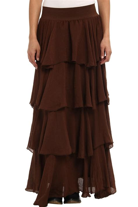 Layered Maxi Skirt polizzi layered maxi skirt from by fashion