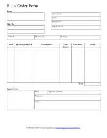 Sales Order Form Template by Tips To Writing A Sales Order