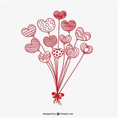 Floor Plan With Furniture by Valentine Balloon Hearts Vector Free Download