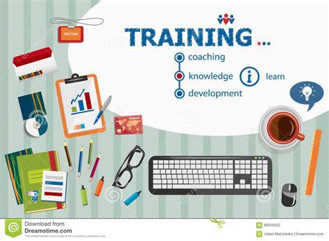 design concept training training design and flat design illustration concepts for