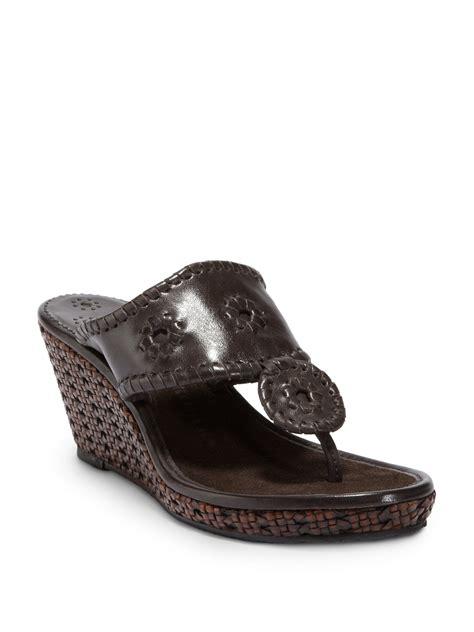 brown wedge sandals rogers mar wedge sandals in brown brown lyst