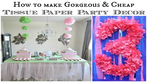 How To Make Ombre Paper - hanging ombre tissue paper flowers tutorial