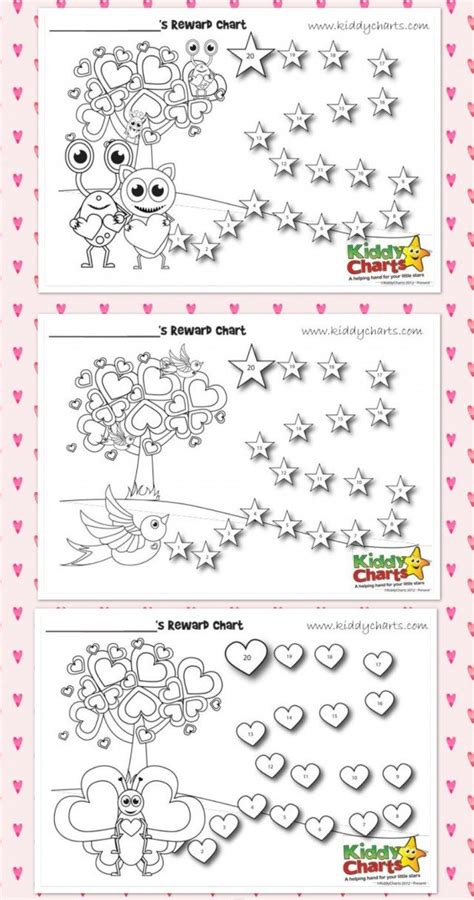 free printable individual incentive charts free loveable valentines behaviour charts for your little