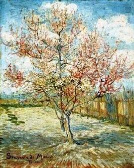 alberi di pesco in fiore primavera vincent gogh albero di pesco in fiore
