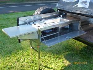 Camper Trailer Kitchen Ideas Camper Trailer Kitchen Kitchen Trailer Pinterest