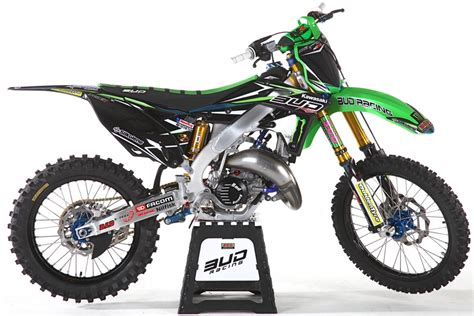 2t motocross gear bud racing s radical aluminum framed kx125 two stroke