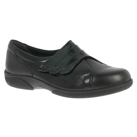 db shoes db shoes womens bakewell black black patent wide fitting shoes