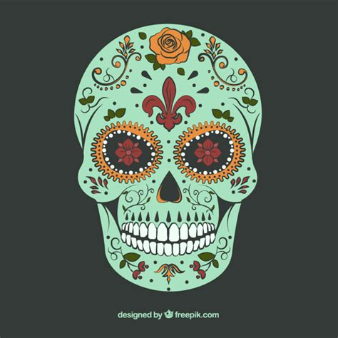 Sugar Skull Decorations by Sugar Skull With Ornamental Decoration Vector Free