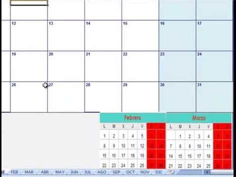 Calendario X Mes 2016 Calendario 2016 Para Imprimir Gratis Calendario Excel 2016