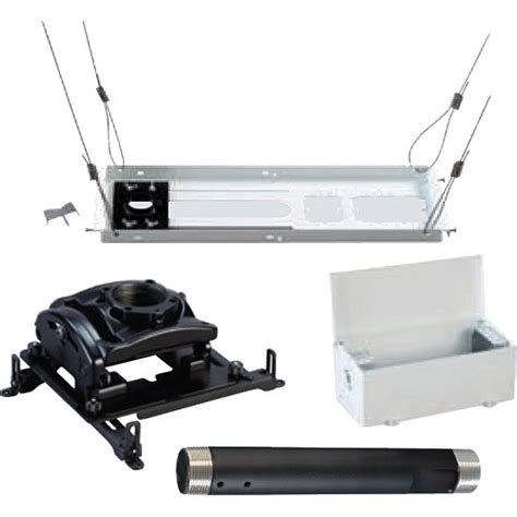 Projector Ceiling Mount Kit by Chief Projector Ceiling Mount Kit White Kites003pw B H Photo