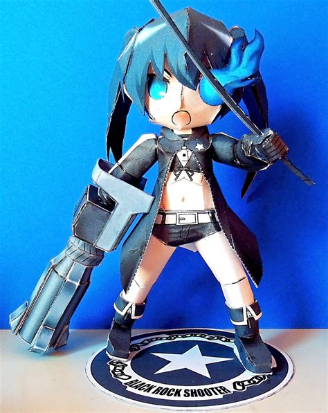 Black Rock Shooter Papercraft - black rock shooter papercraft by rainbowmarimo on deviantart