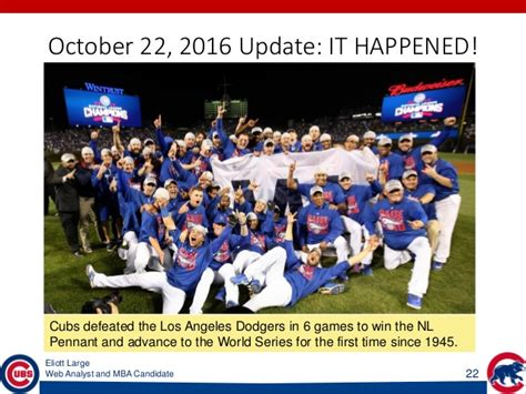 Mba Cubs World Series by Eliott Large Chicago Cubs And Data How Analytics Led To