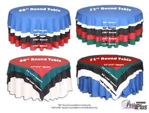 Banquet Size Table Linens - overlay sizing chart wedding planning info pinterest