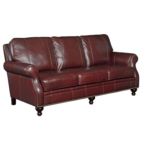 Broyhill Leather Sofa Broyhill L651 3 Franklin Leather Sofa Discount Furniture At Hickory Park Furniture Galleries