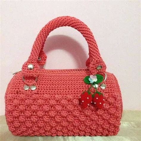 Handmade Knitting Bags - cartera channel carteras a crochet