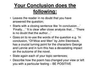 How To Write Thesis Conclusion How To Write A Higher Critical Essay Conclusion How To
