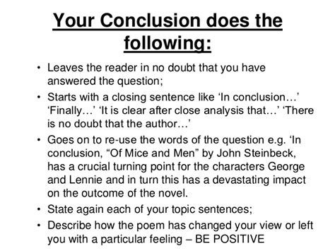 how to write a conclusion to a paper how to write a higher critical essay conclusion how to