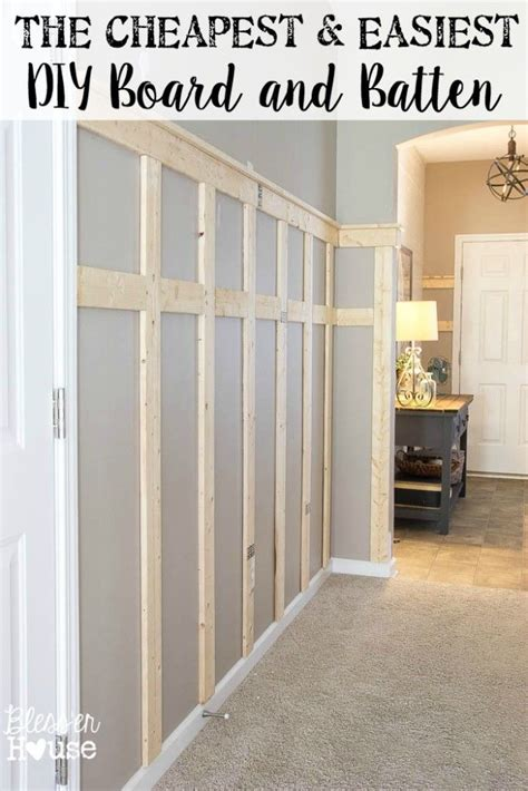 Board And Batten Wainscoting Ideas by The Cheapest And Easiest Diy Board And Batten Part One