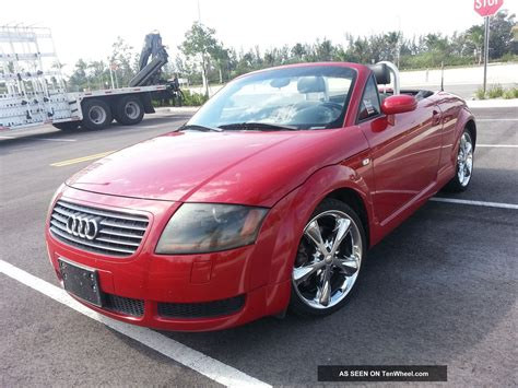 convertible audi red audi tt convertible turbo red with custom 18 quot chrome rims