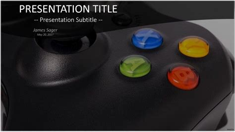 gaming powerpoint templates free controller powerpoint 18590 sagefox