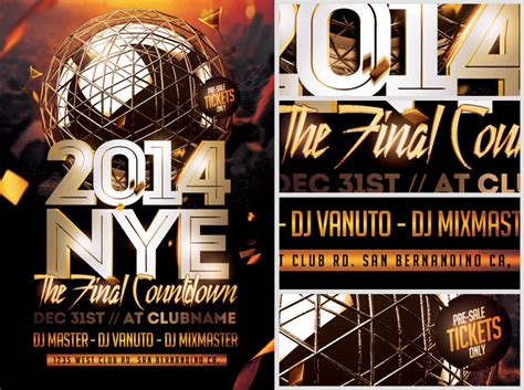 Nye Final Countdown Flyer Template Flyerheroes Countdown Poster Template