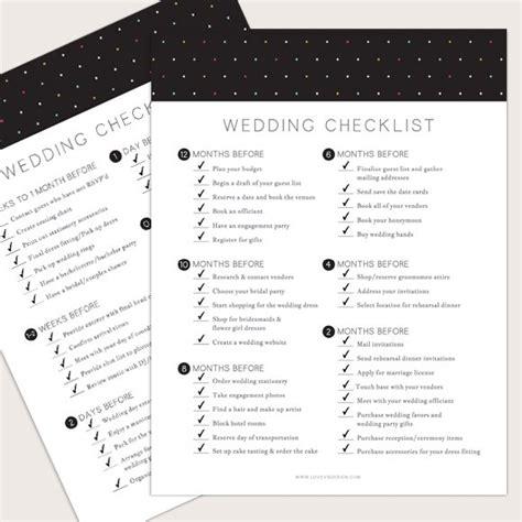 wedding invitation checklist wedding checklist printable by basic invite
