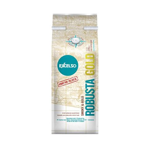 Excelso Robusta Gold 200g Bubuk by Jual Excelso Robusta Gold Ground Bubuk Kopi 200 G