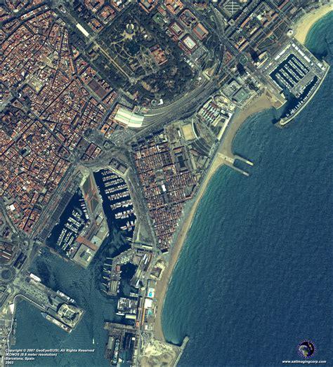 ikonos satellite image of barcelona spain satellite