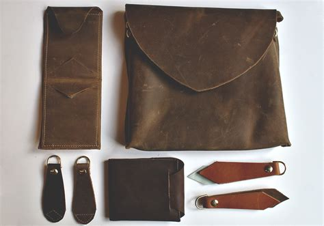 Handmade Leather Items - the market brocante contemporary collection