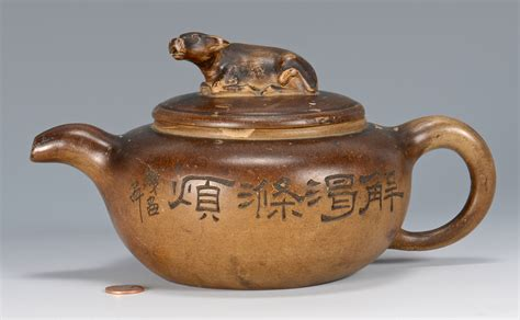 Yixing Teapot It Or It by Lot 359 19th C Yixing Teapot