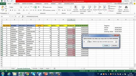 tutorial excel condicional si tutorial excel 2013 formato condicional youtube