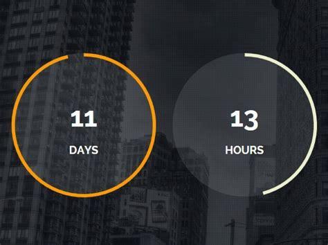 jquery tutorial timer modern circular jquery countdown timer plugin final