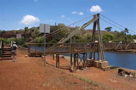 swinging bridge kauai bridgehunter com hanapepe swinging bridge