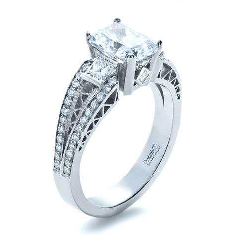 custom princess cut halo engagement ring 1209