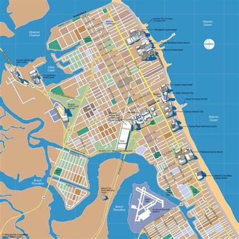 map of atlantic city nj atlantic city new jersey map illustration randal birkey