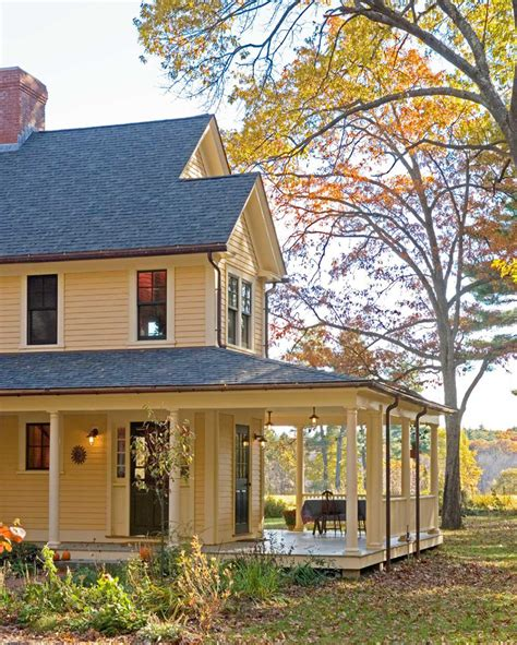 Farm House Porches | cool hubbardton forgein porch farmhouse with stunning yellow house next to magnificent exterior