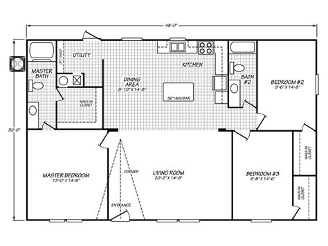 floorplan or floor plan velocity model ve32483v manufactured home floor plan or