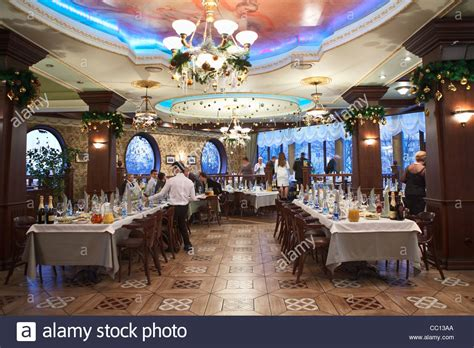 restaurant for christmas party russian restaurant detail of a fancy table set for dinner stock photo royalty free