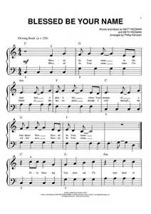 blessed be your name sheet music music for piano and