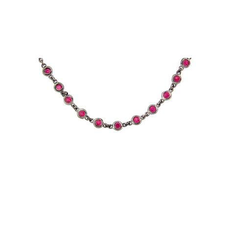 Wst 11021 Chain Necklace Black dilamani jewelry ruby chain
