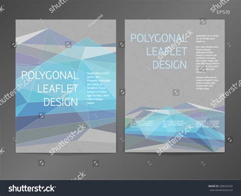 threecolumn doublesided vector leaflet brochure cover