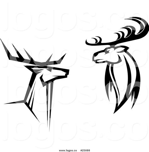 company with a buck in the logo royalty free vector logos of black and white buck deer by